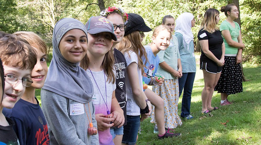 PA Virtual students enagaging in an outdoor activity at an outing
