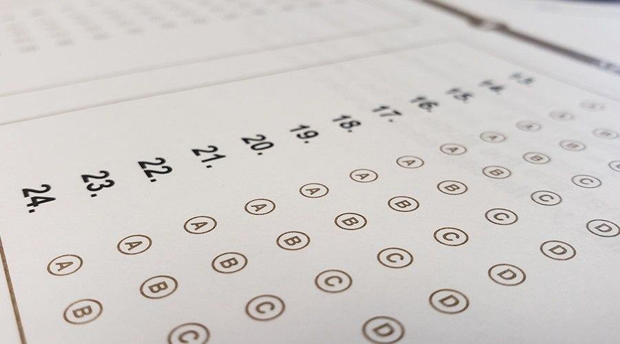 Cyber school state testing bubble sheet